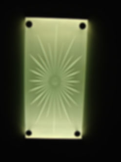 brilliant cut star sandblasted wall light