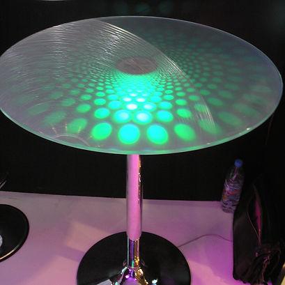 lit table table light