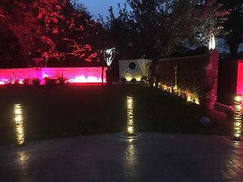 lit garden bollard patio lights