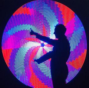led pixel spinning disk