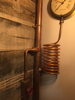 copper tube wall light