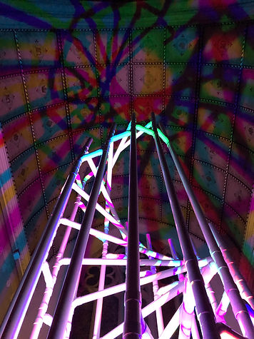 water pipe tower light sculpture