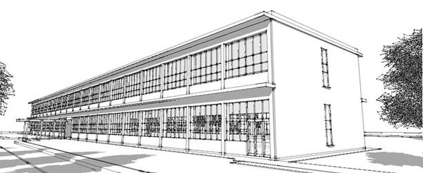 Sketch of Lakeshore Teacher's College  Image courtesy of Morteza Davari