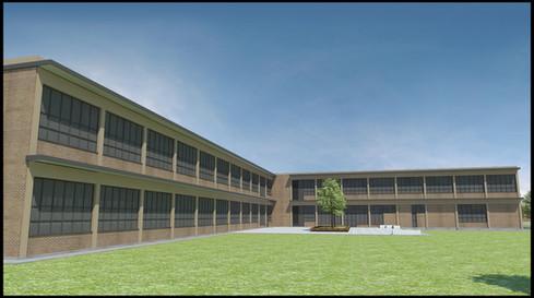 South facing courtyard of Lakeshore Teachers' College.  Image courtesy of Morteza Davari
