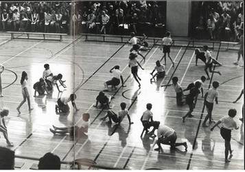 Lakeshore Teachers' College Gymnasium in 1969.   Source:  Thaskala: Lakeshore Teachers' College Yearbook, 1969. Photo courtesy of the Lakeshore Grounds Interpretive Centre.