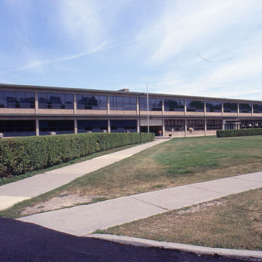 Lakeshore Teachers' College in 1975 when Humber College took its occupancy in the summer of that year.   Source: Archive Photo 35-BK2-2038. Retrieved from library.humber.ca/collections/archive.