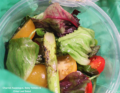 Charred Asparagus, Baby Tomato & Crisp Leaf Salad.