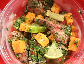 Chimichurri Beef & Roasted Sweet Potato Salad