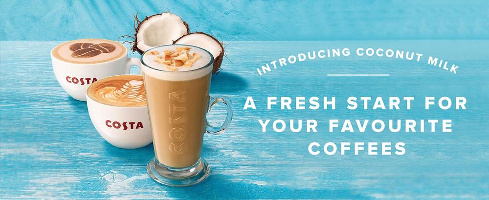 New Costa Coconut Milk Drinks Range