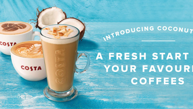 COSTA BRINGS COCONUT MILK TO THE MENU... AND VEGAN FRIENDLY...
