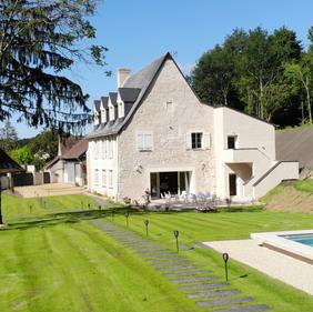 Maison, Piscine et 2 terrasses