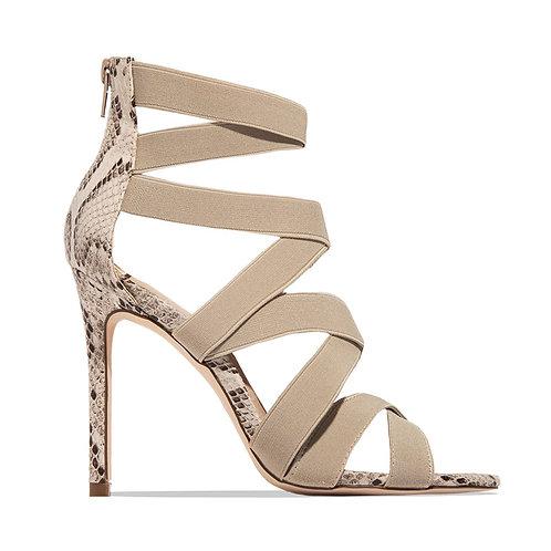 Snakeskin Thin Heeled Sandals