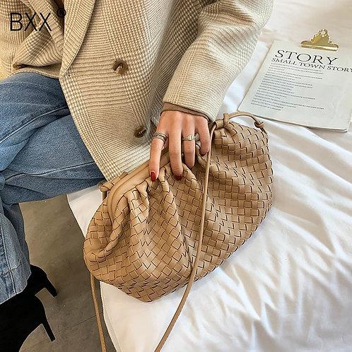 Leather Weaving Crossbody Bags