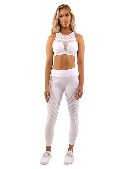 ClarisRemy Lagoon Set - Leggings & Sports Bra - White