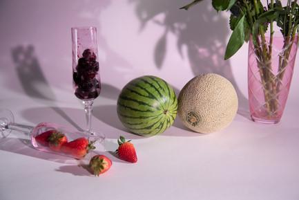 Still Life Series: Glass Cherries