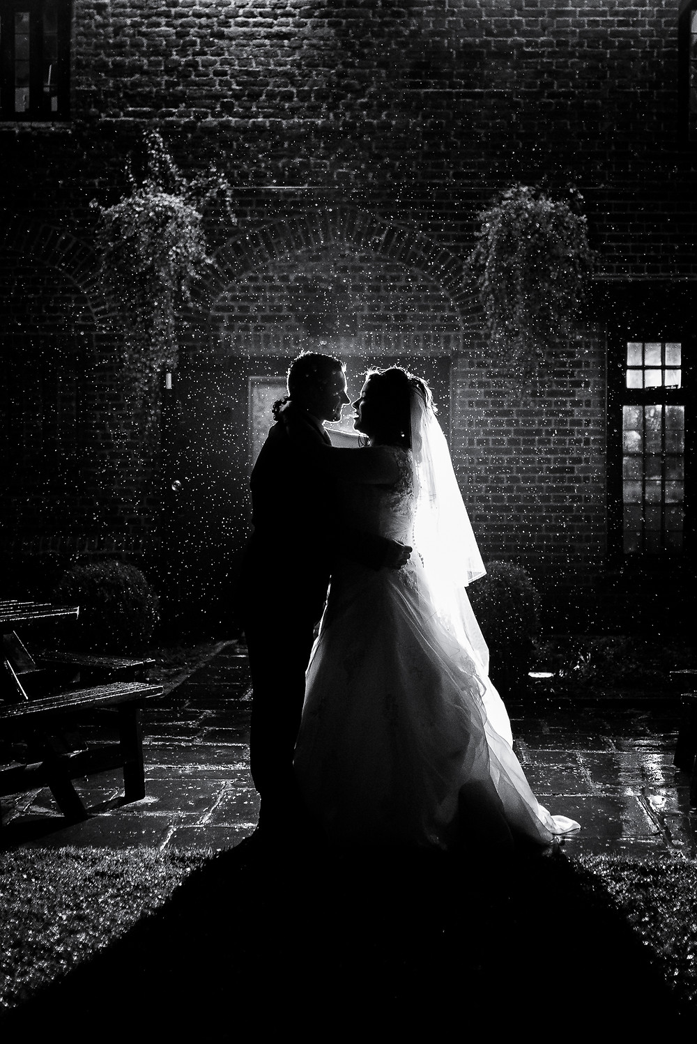 night time wedding shot