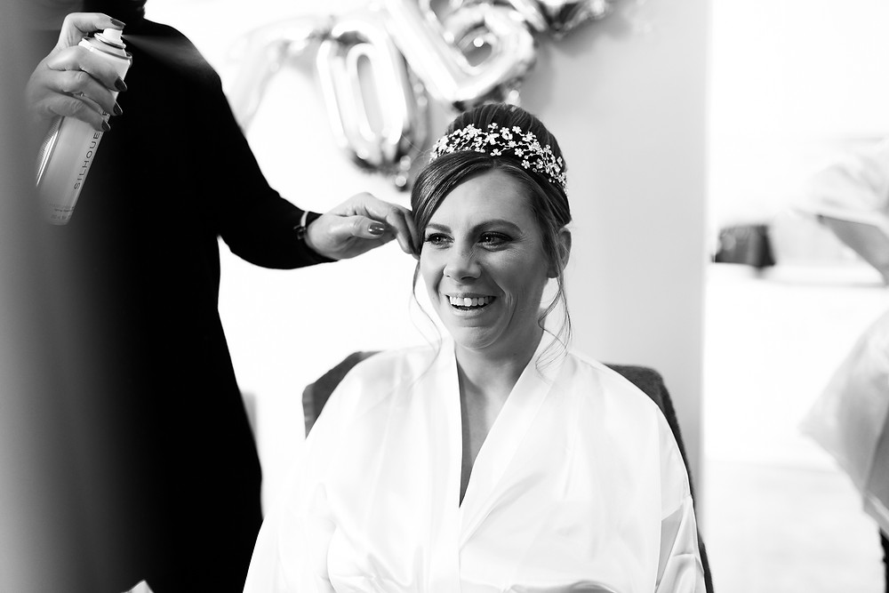 Bridal preparations photography