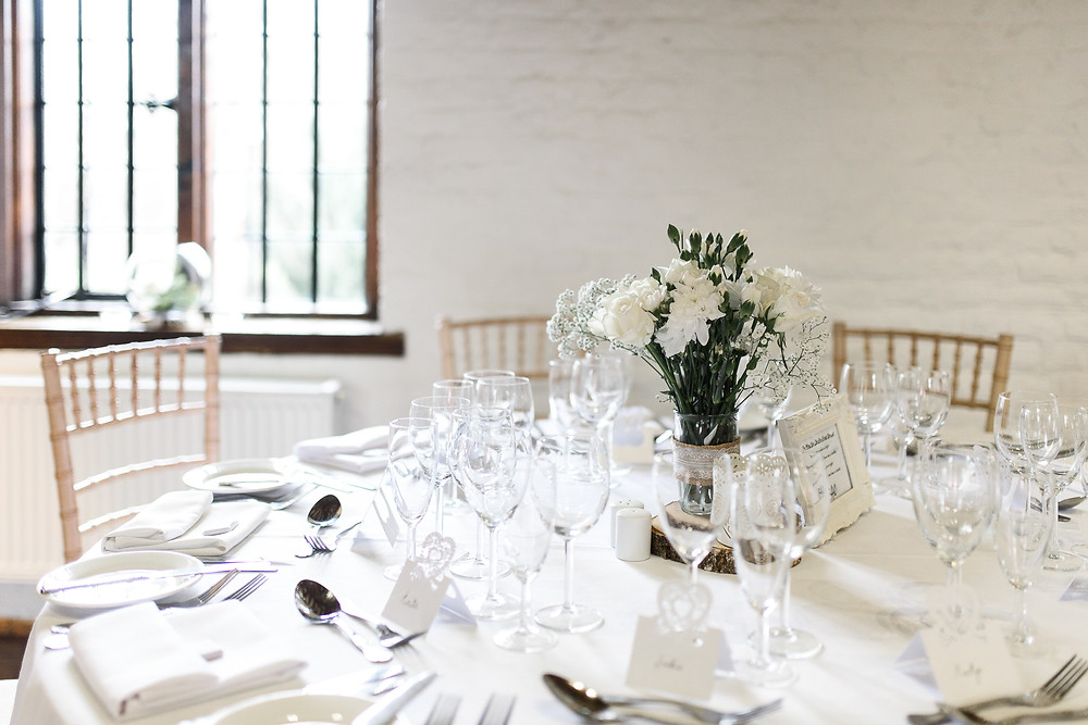 Tudor barn eltham wedding decor