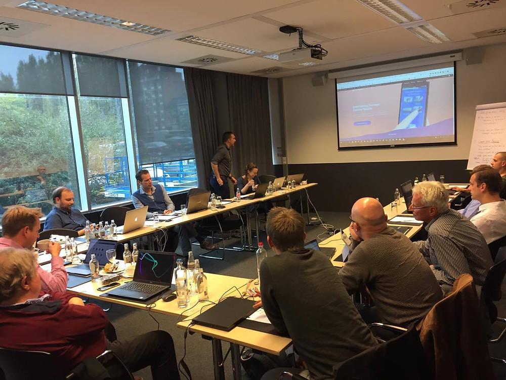 Flex4Apps partners discussing