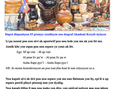 Kou Kreyòl: Leson 9: Apostwòf / Tirè