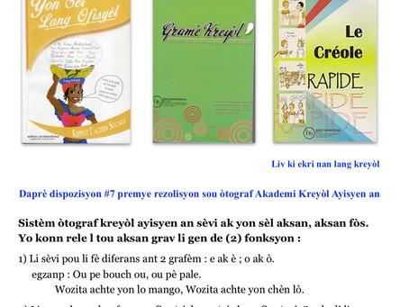 Kou Kreyòl: Leson 13: Aksan