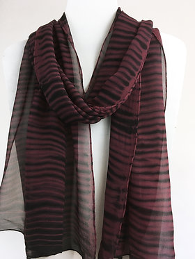 Shibori Silk Waves Scarf