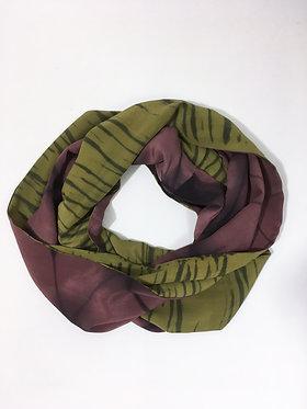 Duet Silk Infinity Scarf in Plum