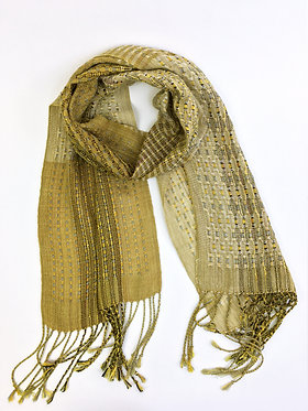 Handwoven Gold Lace Scarf