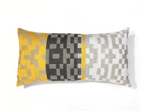 Pixel Sun Lumbar Pillow