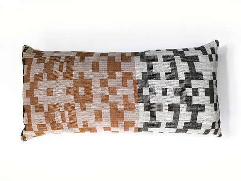 Pixel Brown Lumbar Pillow
