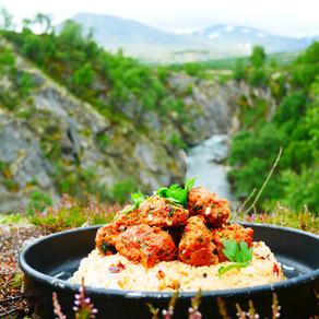 Kurdish Lamb Meatballs with fried rice