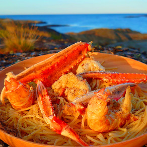 Langoustine Pasta with Truffle Seaweed Salt