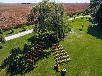 Drone View of a Farm Wedding Venue in Il