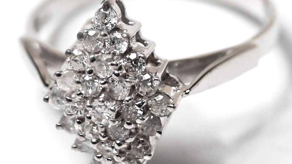 خاتم الماس سيرتن عيار 18