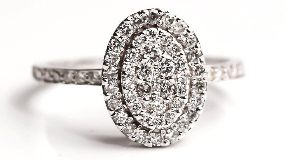 خاتم الماس لاكشري هالو عيار 18
