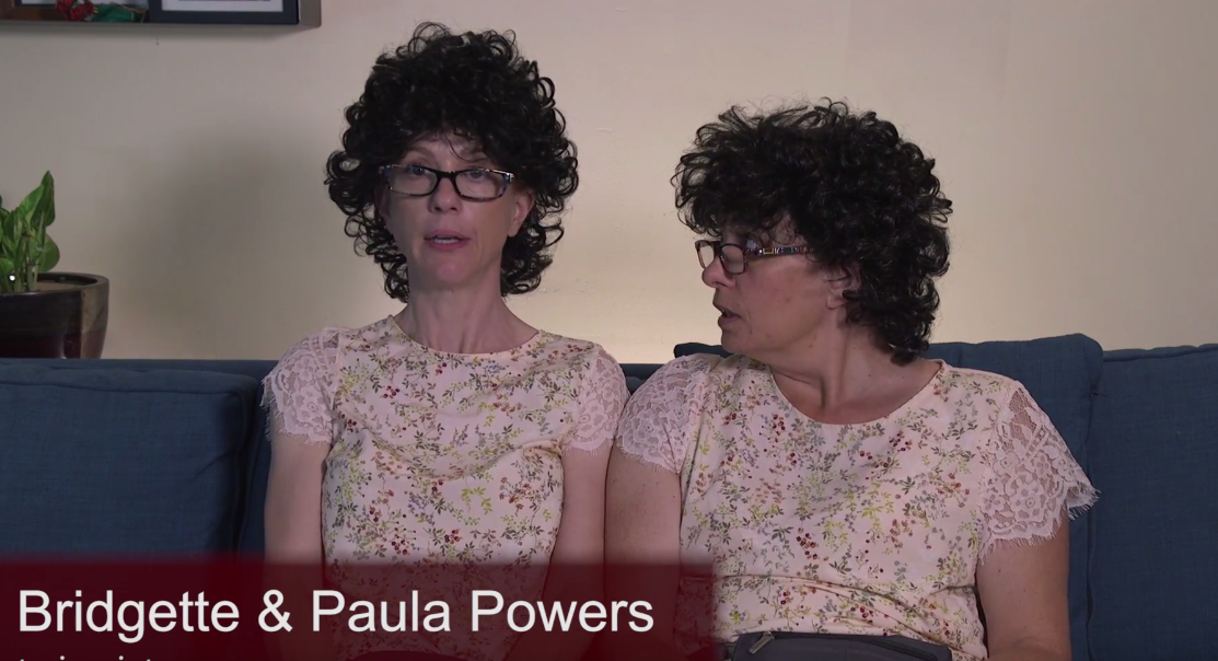 Twins Bridgett and Paula Powers