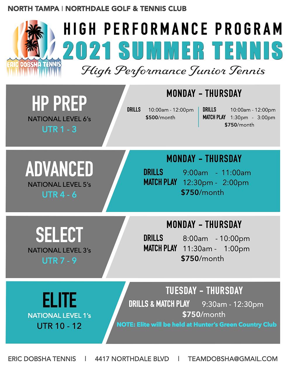 EDT HP Program SUMMER 2021 Overview (WEB