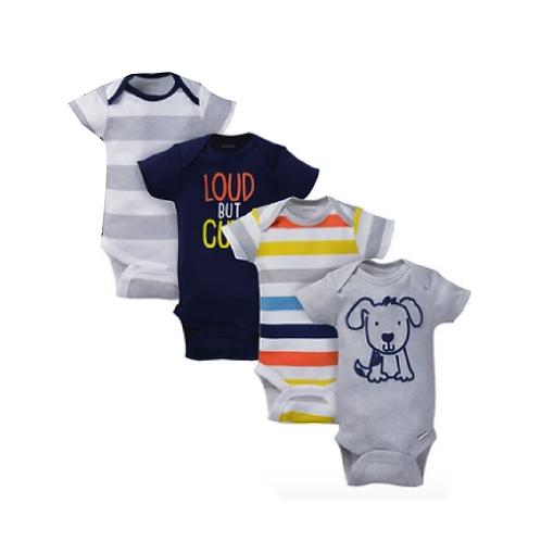 Pack de 4 Bodysuits de manga corta para bebé niño marca Onesies® Gris
