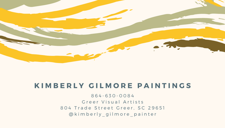 Kimberly Gilmore Paintings business card