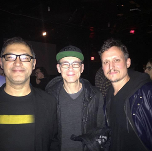 Asher R. T. with Alain Thibault director of ELEKTRA Festival d'arts numeriques in Montreal and Billy Clark Director of Culture Hub at LaMama