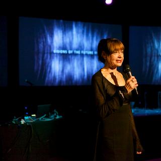 Chirstiane Paul, Whitney Museum Curator presenting the night