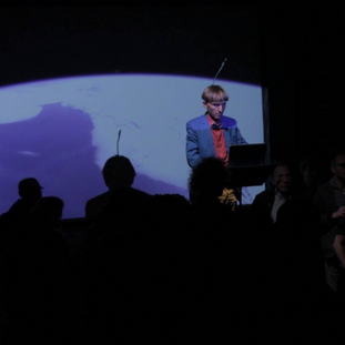 Neil Harbisson performing a Space Concert
