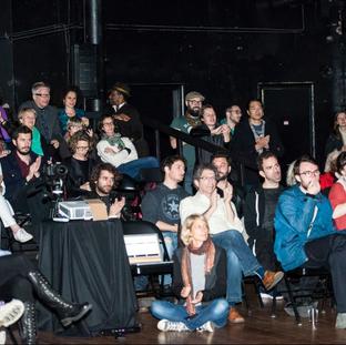 Crowd at Hyphen Hub's performance night