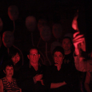 Audience watching the performance by MSHR duo