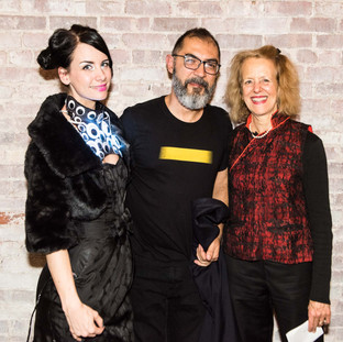 The two moderators of the night FashionTech Anouk Wipprecht and curator Barbara London