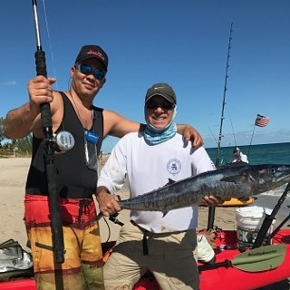 Rich from New York landed this beautiful wahoo with his brand new Accurate Dauntless 500 that he pai