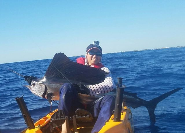 Price with his second sailfish. First time offshore kayak fishing and went 2 for 3 on sailfish.jpg