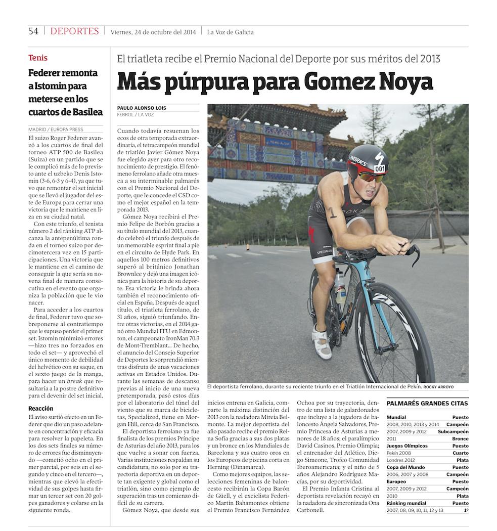 La Voz de Galicia Newspaper (Spain)