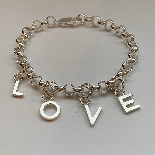 Sterling Silver Rolo Bracelet
