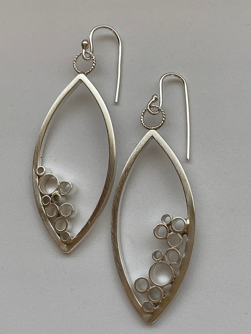 Sterling Silver Oval Earring